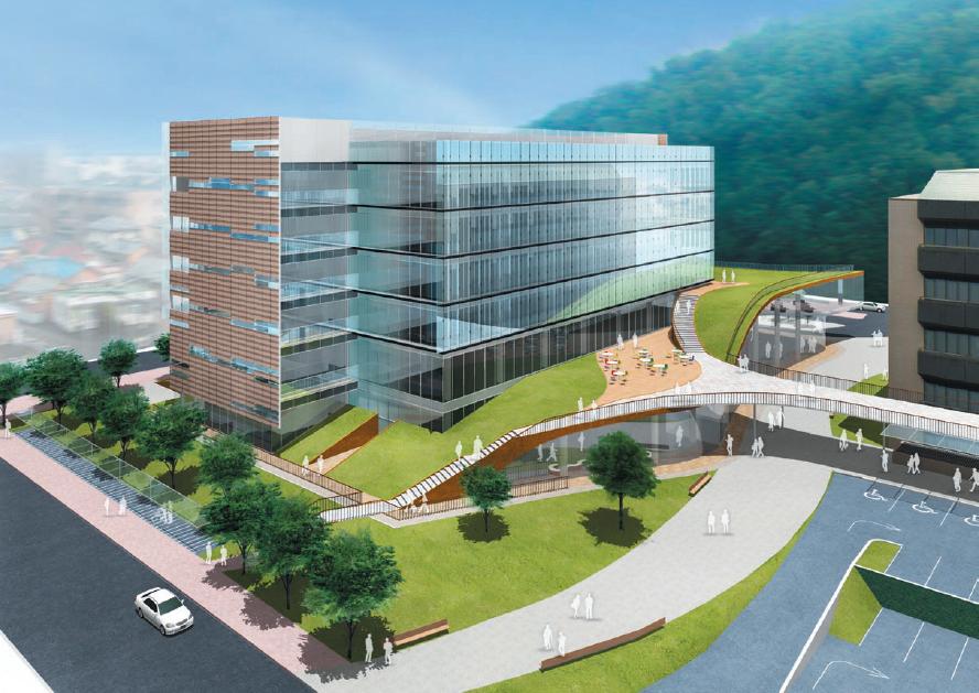 2012年に完成した小牧市役所新庁舎のイメージ図