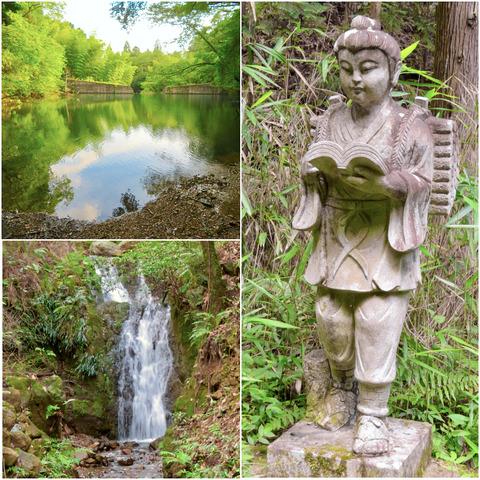 道樹山に謎の二宮金次郎像!?そして縁者不動の滝(追記あり)