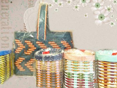 エコクラフト編み籠 (2)
