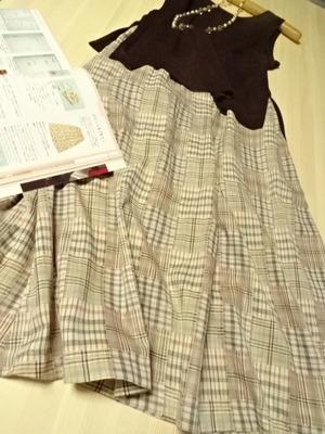 ロングフレアースカート手作り (6)