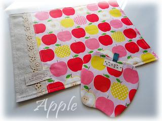 りんごのコースターとお揃いのランチョンマット-(5)