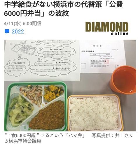 横浜市の公立中学校の給食
