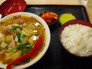 スタミナラーメン定食