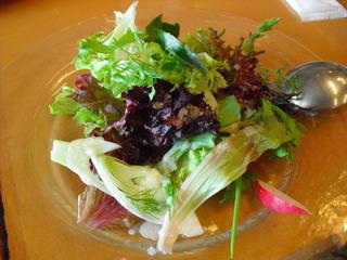 Pranzo A の自家栽培サラダ