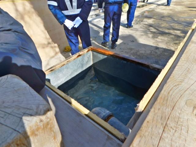手桶用の水槽