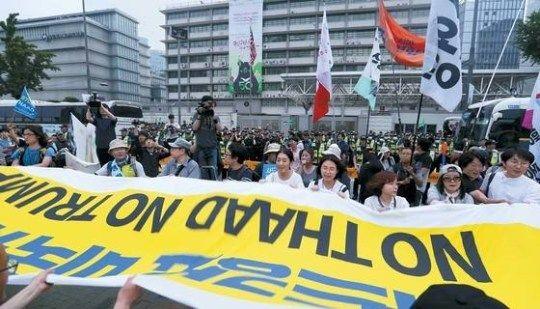 韓国人 反米