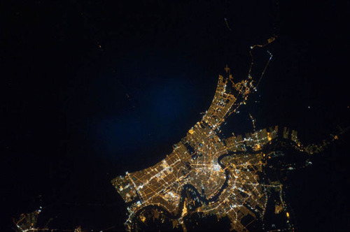 ISSから見た夜景16