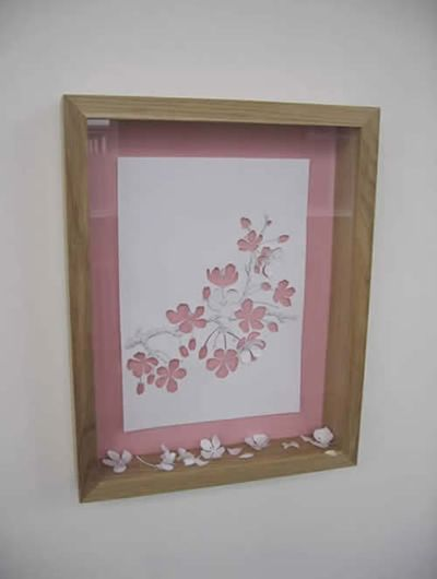 美しく繊細なペーパーアートの世界-桜