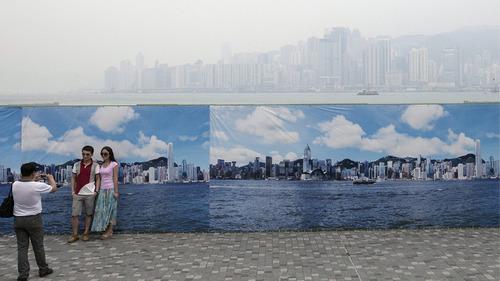 香港の写真家の大気汚染対策01