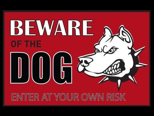 「猛犬注意」の看板00