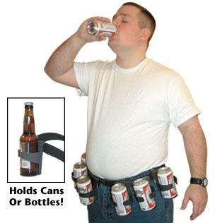 ビールをホールドするベルト