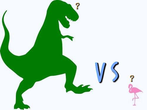 フラミンゴの群れはティラノサウルスを90秒で倒せる00