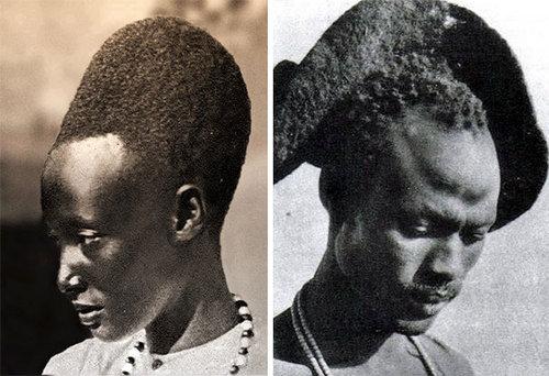 100年前のルワンダの伝統的な髪型07