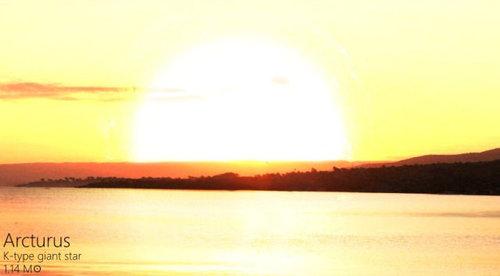 夕日を太陽以外の恒星にしたら10