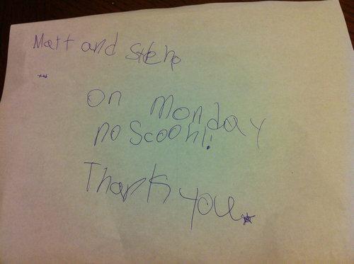 5歳の娘の手紙01