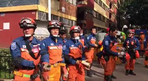 メキシコで日本の救助隊が派遣04