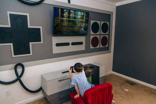 子供部屋を「ファミコン」風に改装16