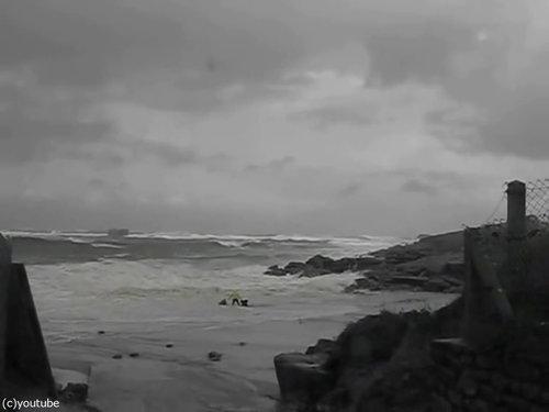 「嵐のときにビーチに近づいてはいけない理由」10