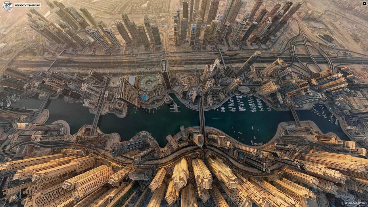 ブルジュ・ハリファの上から見下ろした景色の画像