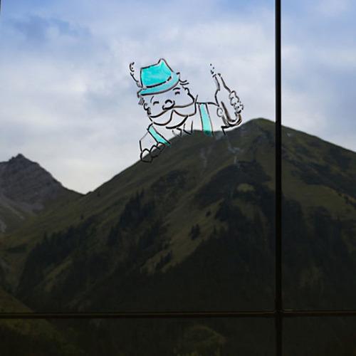 窓ガラスに落書き21