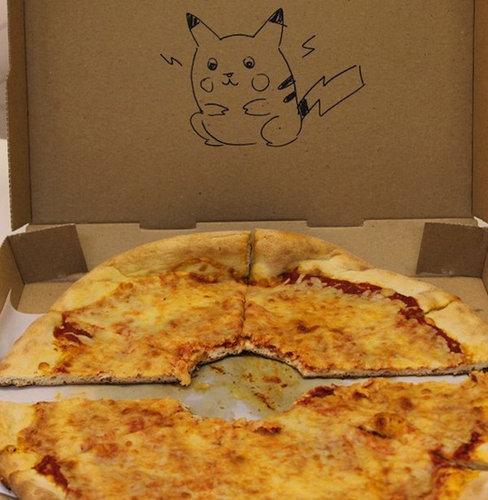 ピザのデリバリーの絵01