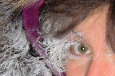 マツゲや髪まで凍った人11