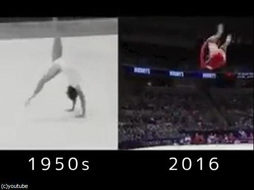 「体操」が50年余りでどれだけ進歩したか00
