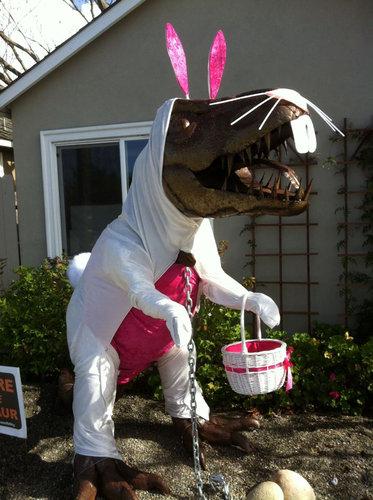 庭にいる恐竜01