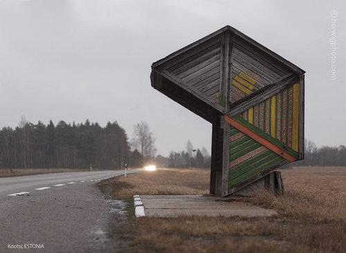 ソ連のバス停02