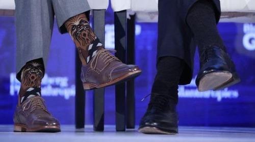 カナダ首相の靴下02
