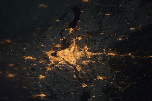 ISSから見た夜景13