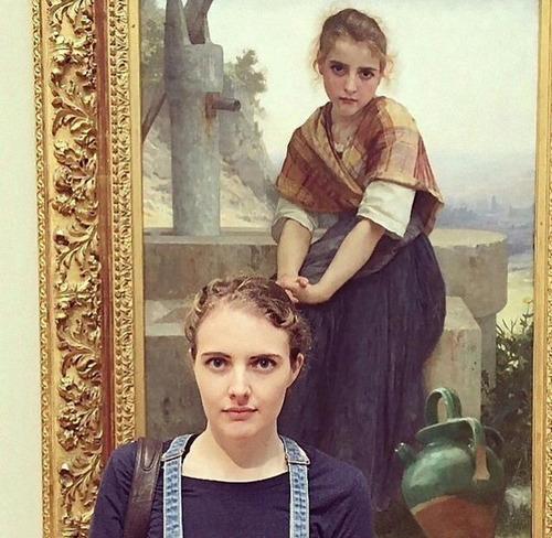 美術館に自分のそっくりな絵01