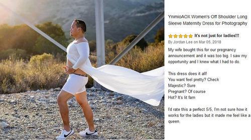 妊婦向けドレスのアマゾンレビュー01