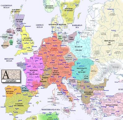欧州1000年地図縮小