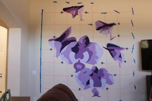 エンジニアが壁に蘭を描いた07