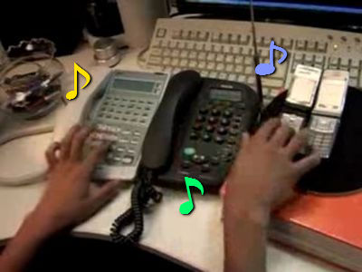 電話で演奏