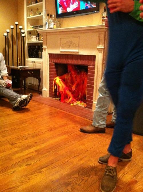 暖炉コスプレ01