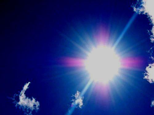 顔の半分だけ日光に照らされた結果00