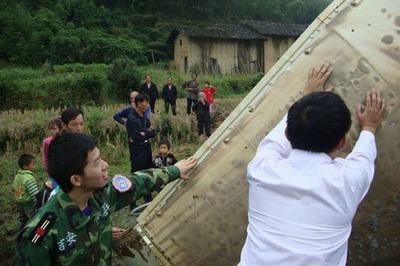 中国のロケットの落下物02