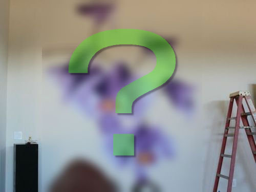 エンジニアが壁に蘭を描いた00