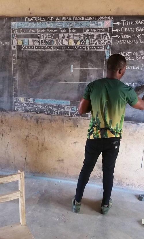 ガーナのIT授業01
