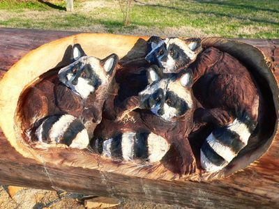 チェーンソーで木彫り10