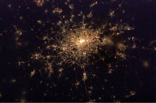 ISSから見た夜景29