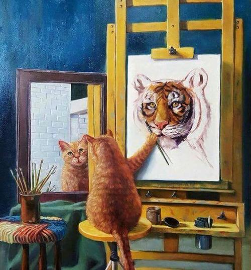 猫の自画像・ナルシスト編01