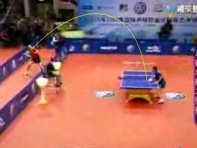 勝負を超えた、ありえない事になっている卓球の動画