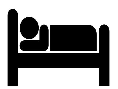 寝ている妻の姿