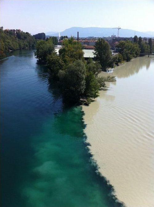 ローヌ川とアルヴ川の合流ポイント01