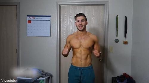男性の3か月のダイエット動画07