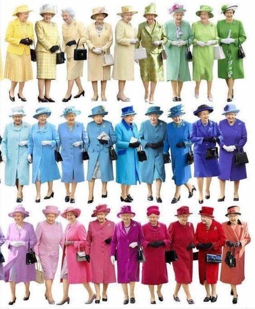 エリザベス女王はカラフル01