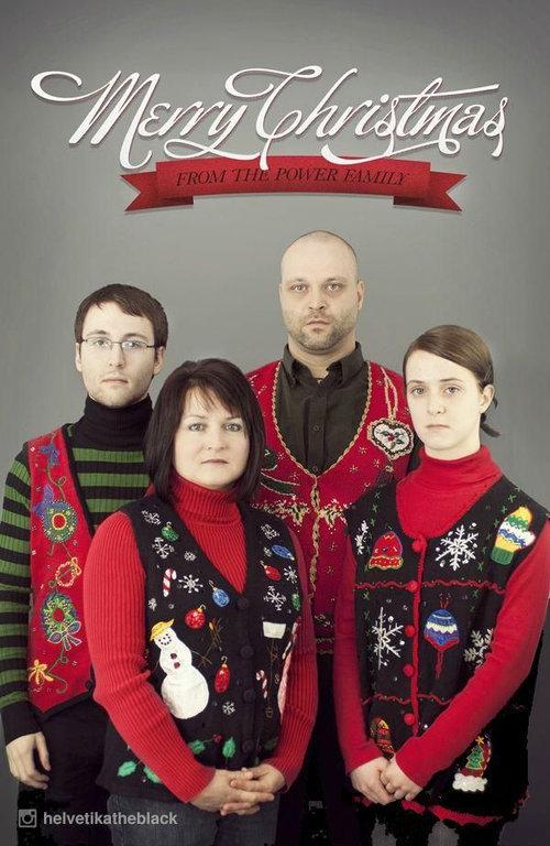 過去4年の家族の自作クリスマスカード01